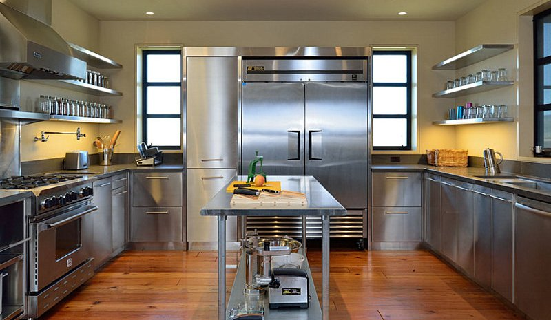kitchen cabinets stainless steel residential