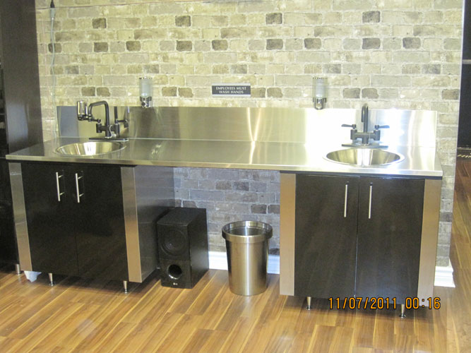 stainless steel sink cabinets tattoo shop - Stainless Steel Kitchen Cabinets