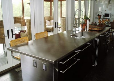 1-Stainless-steel-kitchen-island-countertop