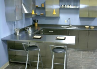 Stainless Steel U Shaped Kitchen