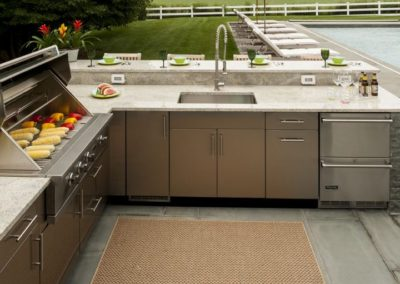 metal outdoor kitchen cabinets stainless steel outdoor kitchens steelkitchen 23273