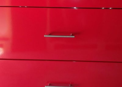 Powder Coated 3 Drawer