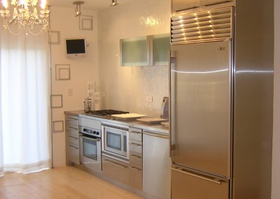 stainless steel condo kitchen