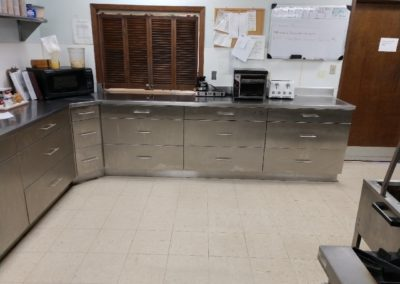 metal cabinets break room