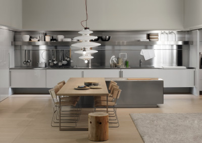 Stainless Steel Contemporary Kitchen Design