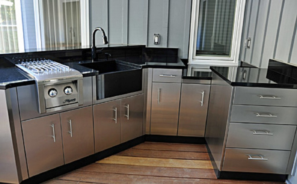 Stainless steel outdoor kitchen cabinets | SteelKitchen