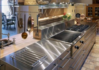 Stainless Steel Island and countertop