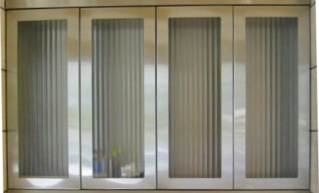 "2"" Stainless Steel Flutex Glass Door"