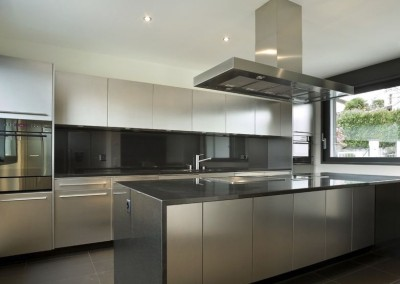 Contemporary Stainless Steel Kitchen Base Cabinets