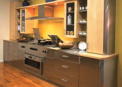 Stainless Steel & Wood Finish