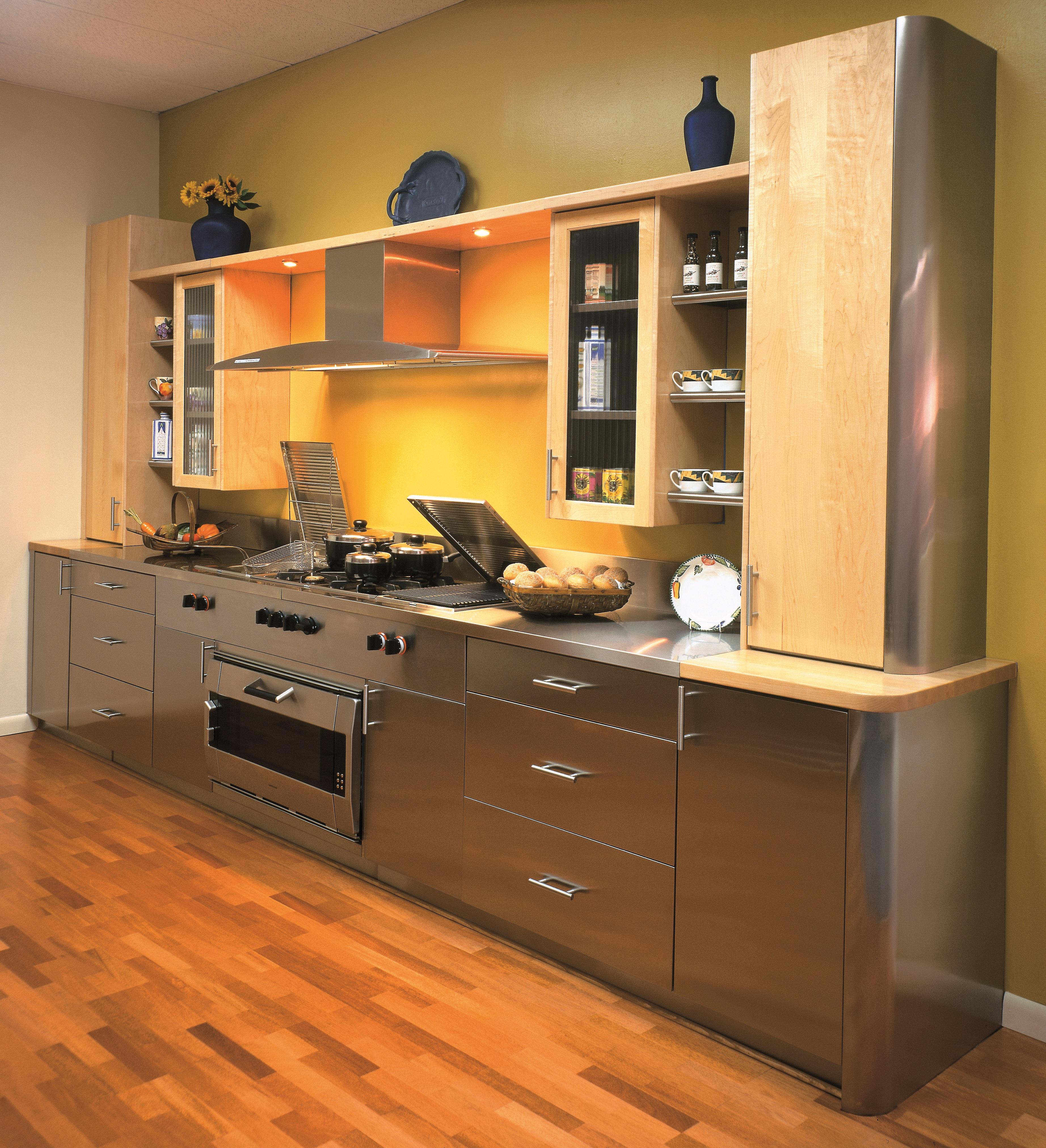 Metal Cabinets Kitchen: Stainless Steel Kitchen Cabinets