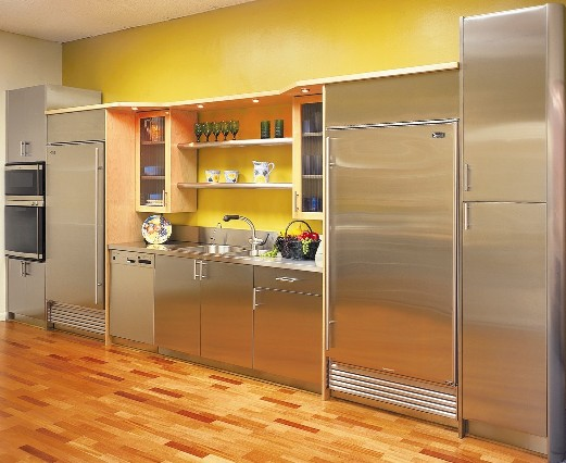 Stainless Steel with Wood Combination