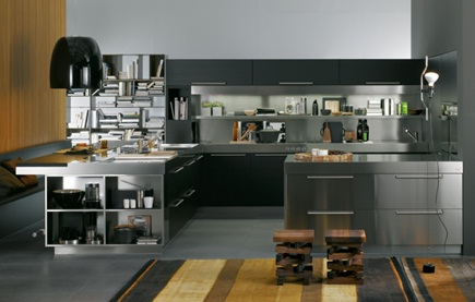 Satin Black Kitchen