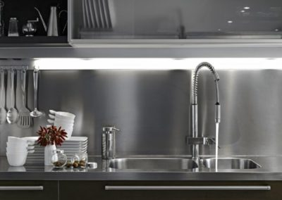 Stainless Steel Full Backsplash