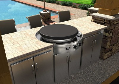 Stainless Steel Round Grill 8