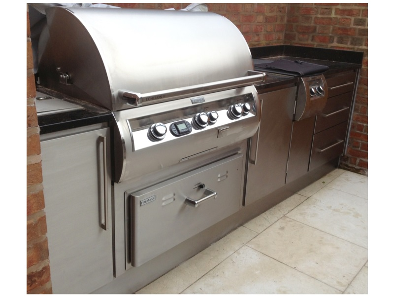 Outdoor Grill Cabinet 22. Stainless Steel ...