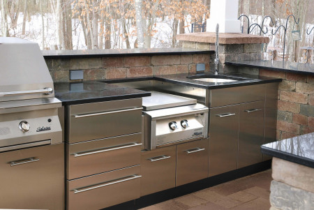 outdoor kitchen stainless steel cabinet doors stainless steel outdoor kitchens steelkitchen 24162