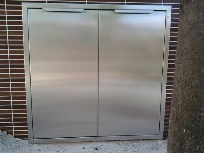 Stainless Steel Door Frame Outdoor Double Access