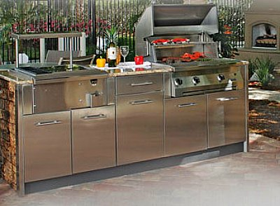 metal outdoor kitchen cabinets stainless steel outdoor kitchen cabinets steelkitchen 7472