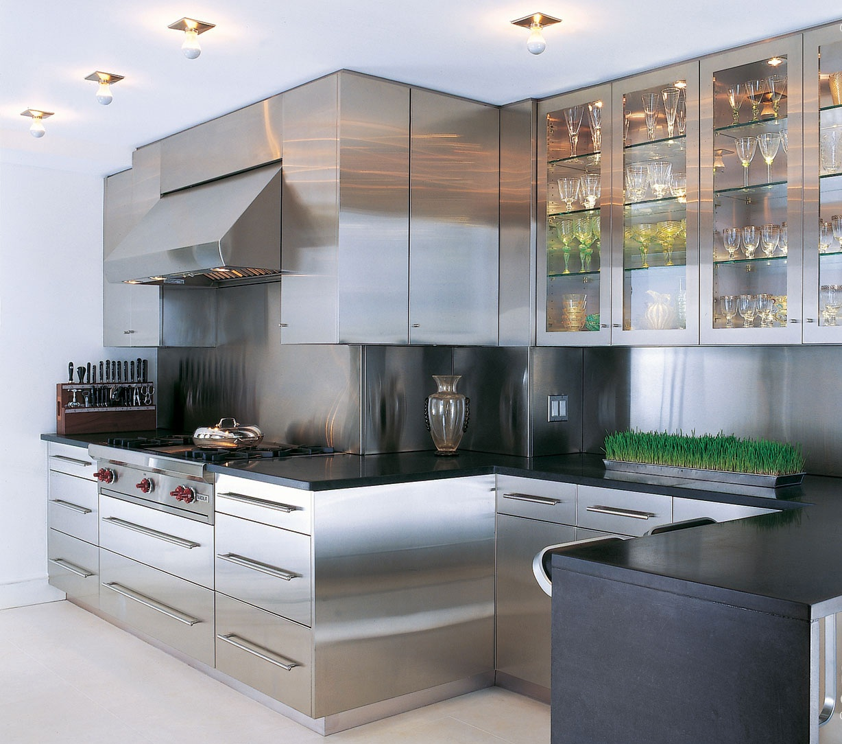 Material For Kitchen Cabinet: Stainless Steel Kitchen Cabinets