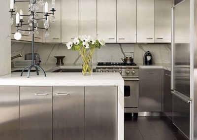 stainless steel contemporary kitchen cabinets