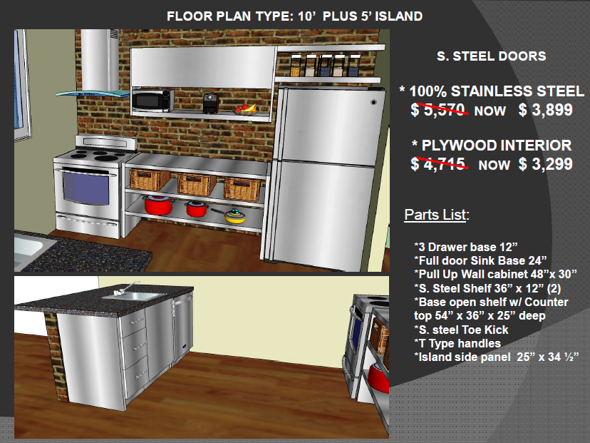 Low Prices On Stainless Steel And Plywood Kitchen Cabinets