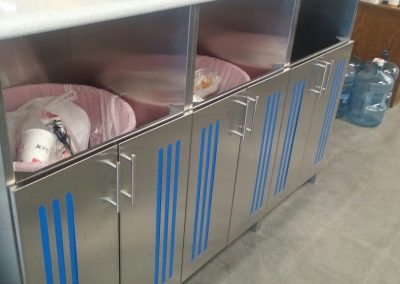 Stainless Steel Commercial Trash Cabinets