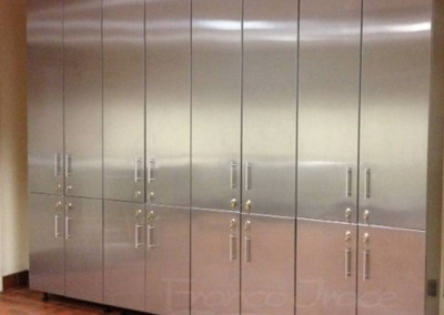 Stainless Steel Locker Room