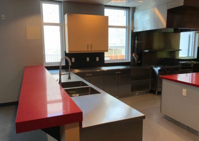 Stainless steel fire station kitchen
