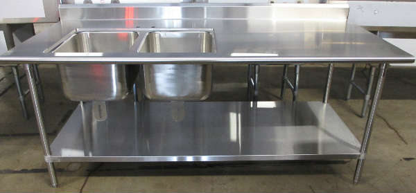 stainless steel compartment sinks