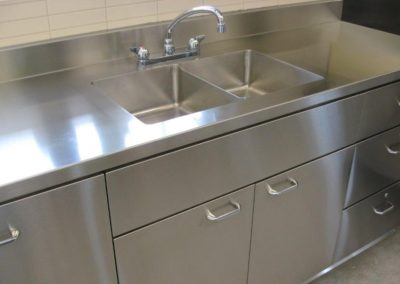 stainless steel commercial sink cabinet