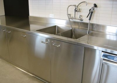 stainless steel integrated sink cabinet