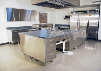 Stainless 0teel Fire Station Kitchen