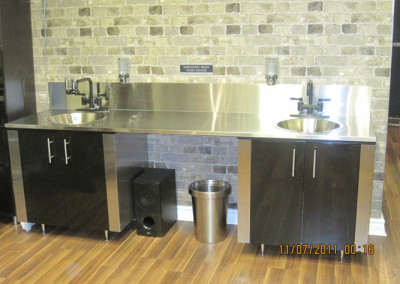 Stainless Steel Sink Cabinets Tattoo Shop
