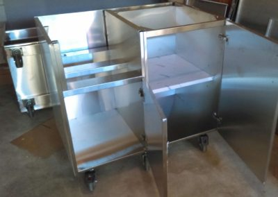 Base unit on casters