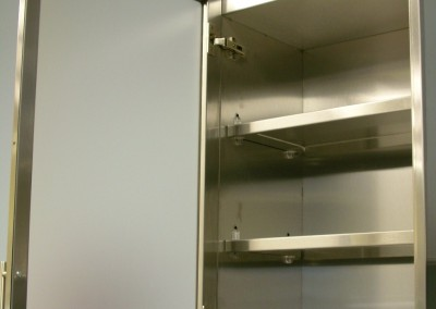 Stainless steel glass wall cabinet