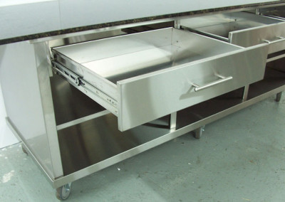 stainless steel shallow drawer
