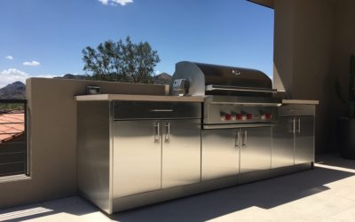 Outdoor Kitchen Cabinets in Scottsdale Arizona