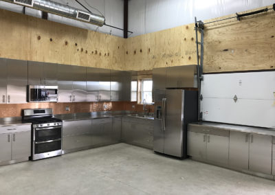 Stainless steel catering kitchen cabinets