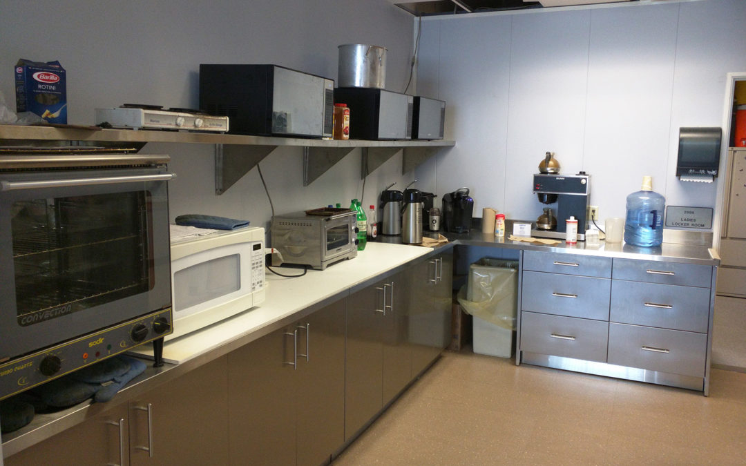 Power Plant in South Florida –  Breakroom stainless steel kitchen