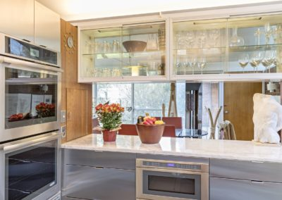 stainless steel peninsula cabinets