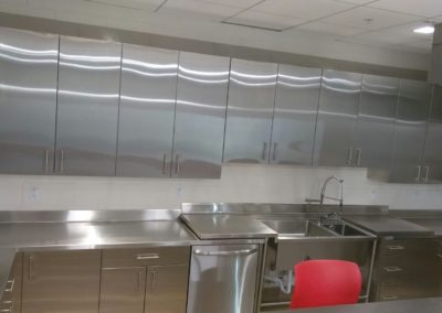 Fire Station ADA compliance stainless steel cabinets