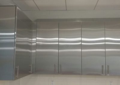 stainless steel upper cabinets