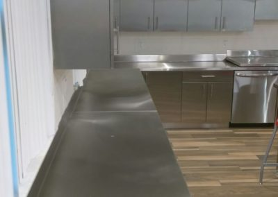 Stainless steel Fire Station counter top