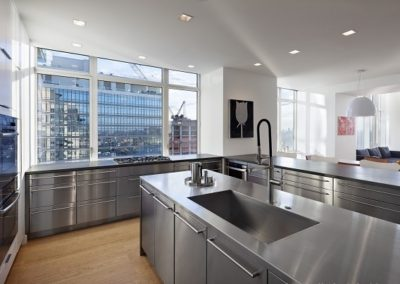 stainless steel new york style kitchen