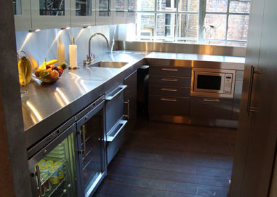 stainless steel residential countertop