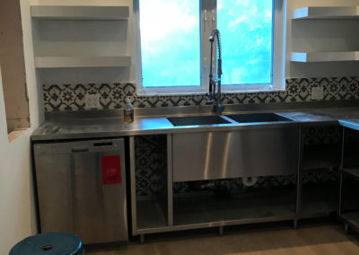 stainless steel open base cabinets