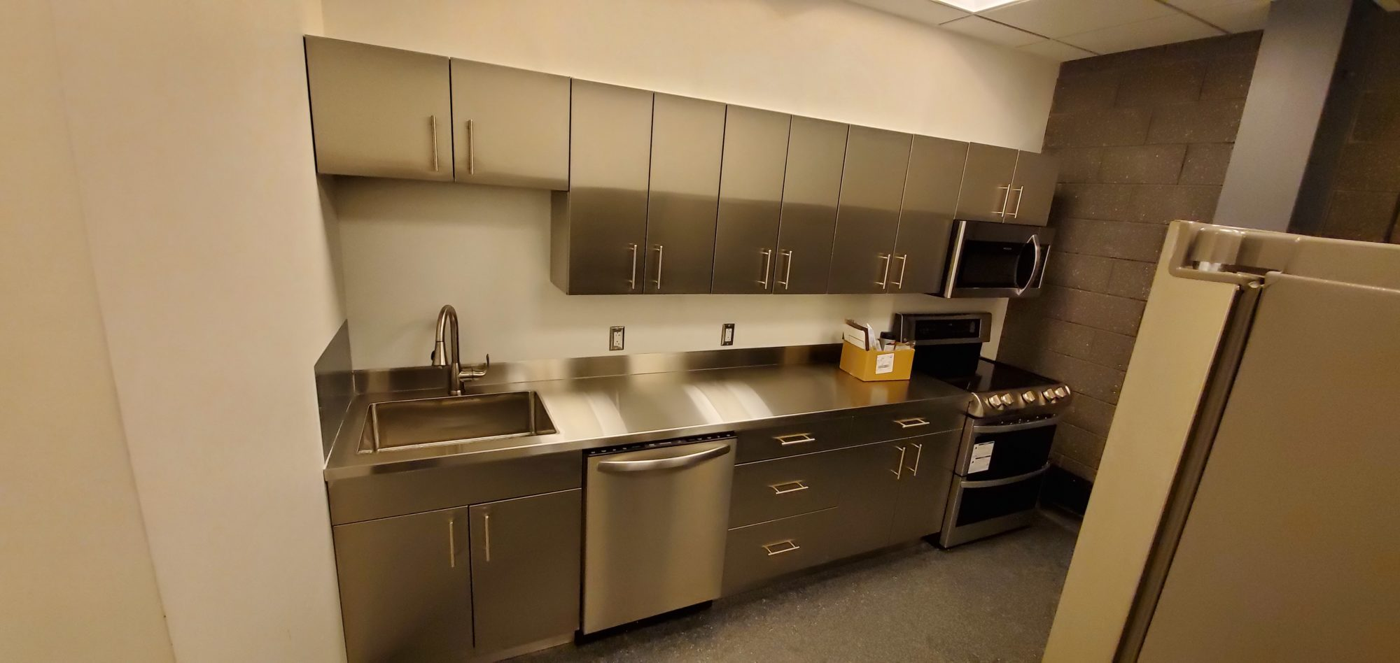 Stainless Steel commercial kitchen cabinets.   SteelKitchen