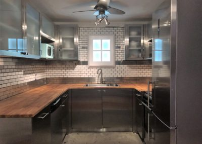 Stainless steel contemporary kitchen